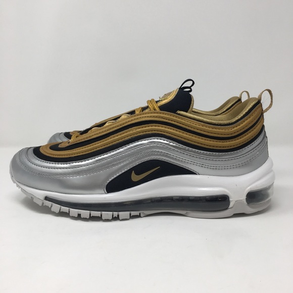 cheap for discount f2085 9ba0e Nike Air MAx 97 SE Gold Metallic Silver Women's NWT